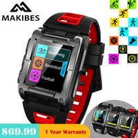 1 Year Warranty In stock Makibes G08 GPS Bluetooth IP68 Waterproof Heart Rate smart watches men's Multi-sports for Iphone