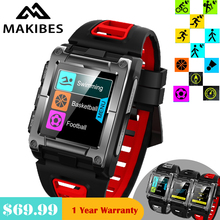 1 rok gwarancji w magazynie Makibes G08 GPS Bluetooth IP68 wodoodporne tętno inteligentne zegarki męskie multi sport dla Iphone