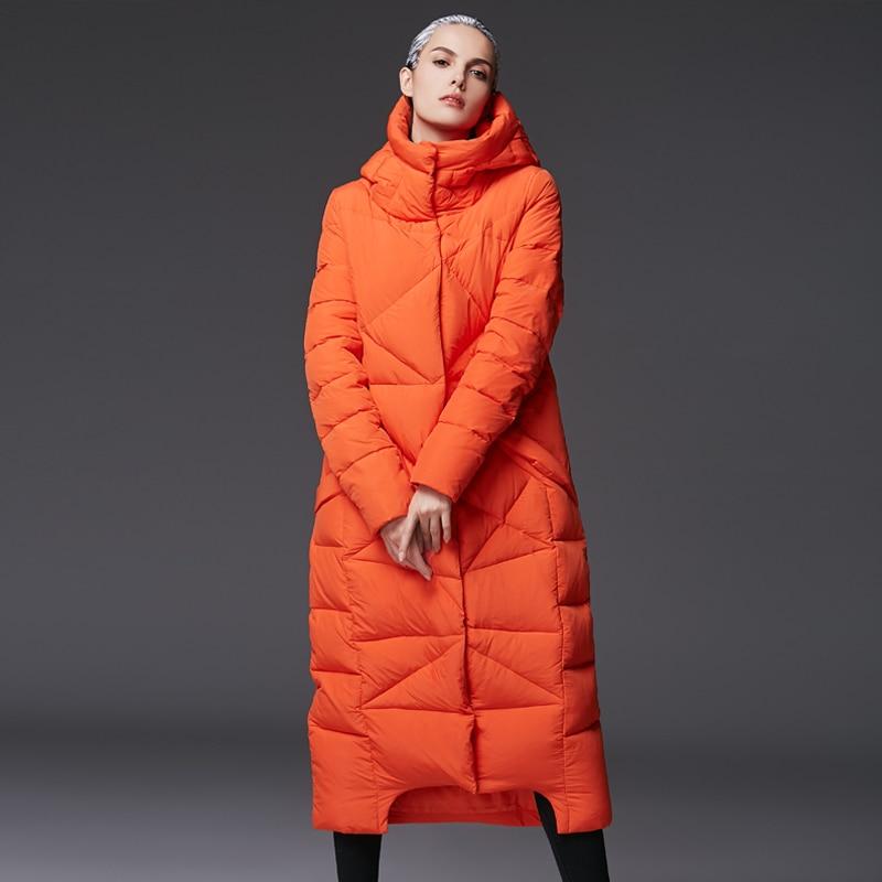 Haute Épais orange À Capuche Doudoune Qualité Vêtements