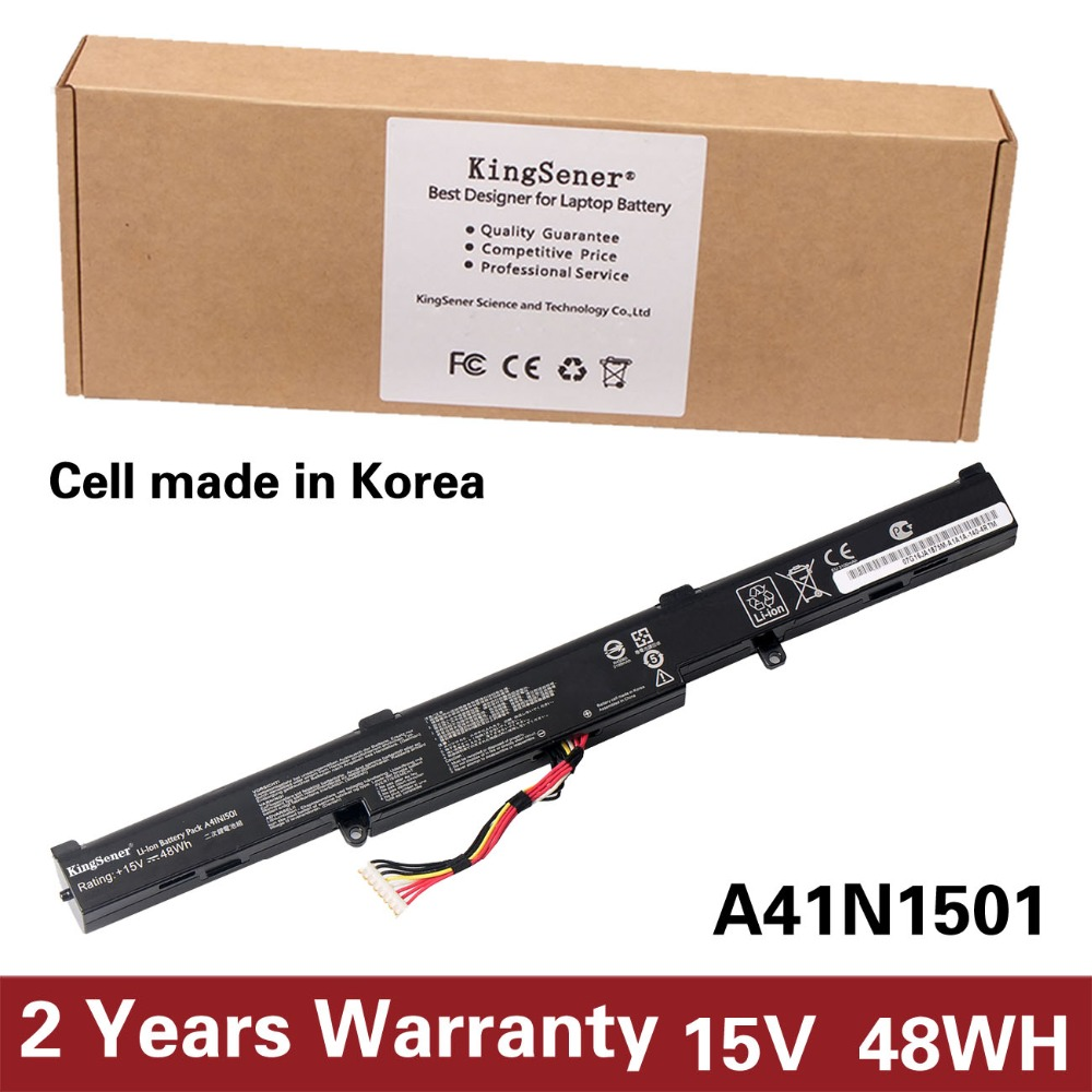 KingSener Korea Cell A41N1501 Laptop Battery for ASUS GL752JW GL752 GL752VL GL752VW N552 N552V N552VW N752 N752V N752VW Series 11 1v 97wh korea cell new m5y0x laptop battery for dell latitude e6420 e6520 e5420 e5520 e6430 71r31 nhxvw t54fj 9cell