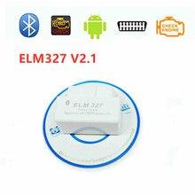 Super Mini ELM327 v2.1 OBD OBD2 Bluetooth V 2.1 Car Diagnostic Tool ELM 327 Code Reader Scanner Free Ship