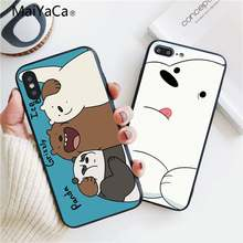 MaiYaCa Nós Gelo Nua Urso Borracha macia TPU tampa da Caixa Do Telefone Shell Para Apple iphone 7 7 plus X 8 8 plus 6 s 6 6 plus 5 5S 10 s MAX XR XS(China)