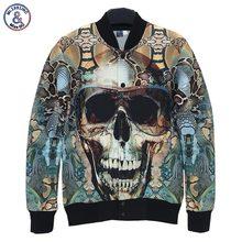 2017 Mr.1991INC designed Men women 3d jacket funny print Glasses Skull Retro Vintage jacket slim jacket autumn coat