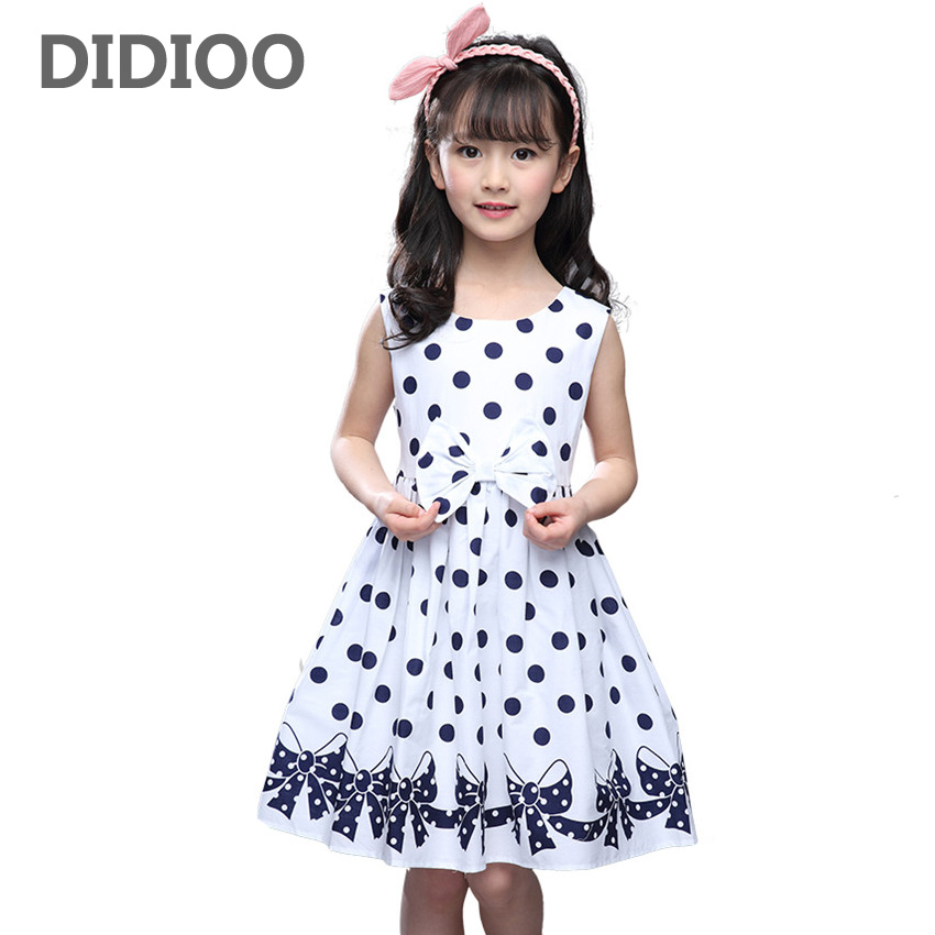 Girls Dresses Sleeveless Polka Dot Dresses For Party And Wedding Cartoon Bow Kids Sundress 2 3 5 7 9 10 11 12 Years A-Line DressGirls Dresses Sleeveless Polka Dot Dresses For Party And Wedding Cartoon Bow Kids Sundress 2 3 5 7 9 10 11 12 Years A-Line Dress