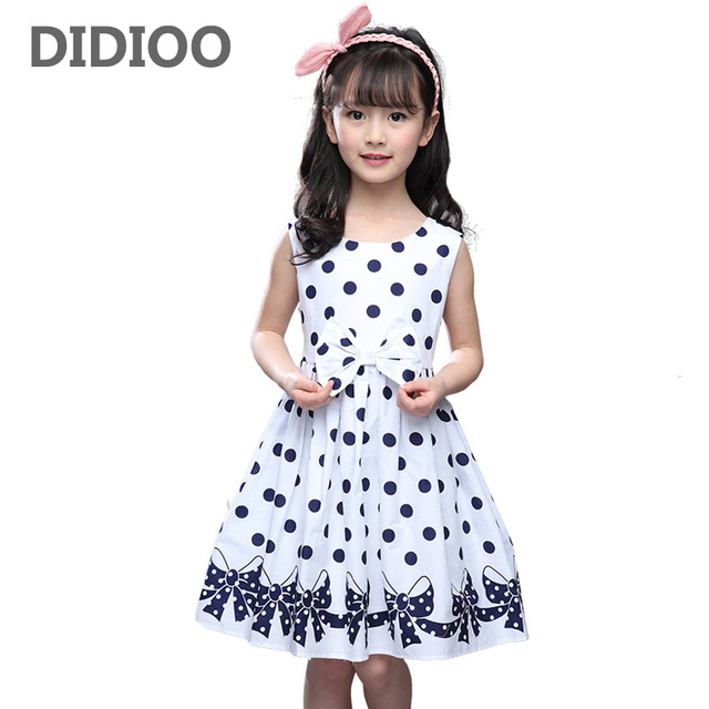 2c1a6eff5f4e Girls Dresses Sleeveless Polka Dot Dresses For Party And Wedding ...