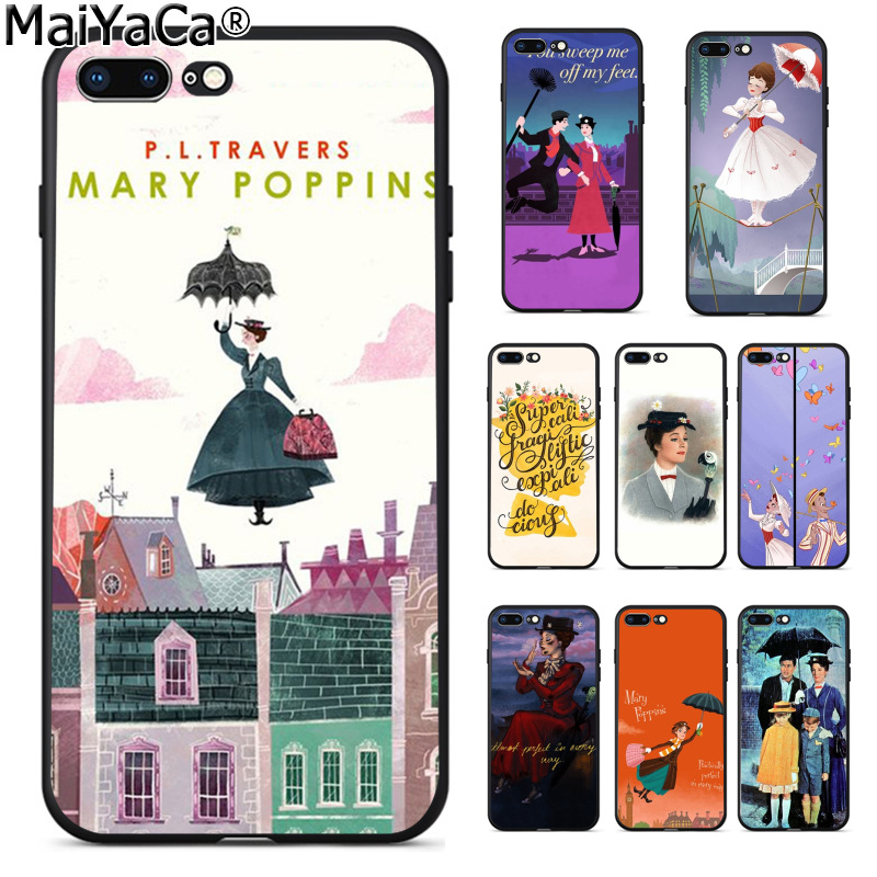 MaiYaCa Mary Poppins Cute Phone Accessories Case for Apple iPhone