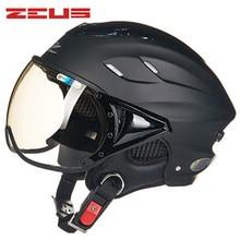 цены ZEUS Honeycomb Design Motorcycle Helmet Open Face Half Capacete Da Motocicleta Cascos Para Moto Casque Kask Helm Scooter Helmets