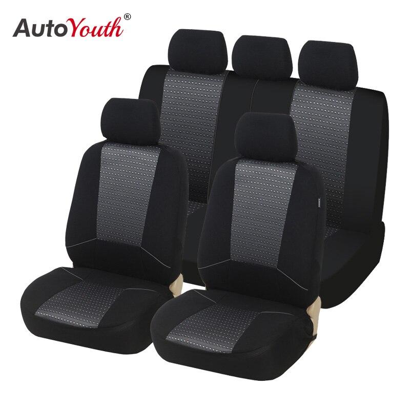 Conjunto completo de asiento de coche cubre ajuste Peugeot 308 Negro//Gris Funda De Asiento