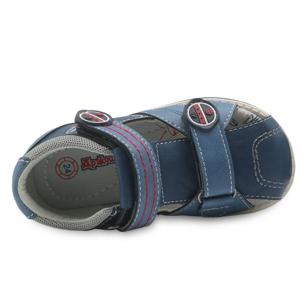 Image 4 - Apakowa New summer kids shoes brand closed toe toddler boys sandals orthopedic sport pu leather baby boys sandals shoesboys sandal shoessummer kids shoesboys sandals -