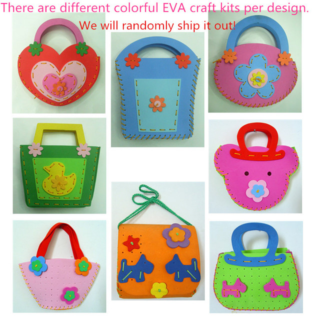 1 Piece Diy Handmade Eva Handbag For Kids Sewing Bag Craft Kit