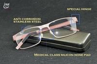 Clara Vida 2017 designer acier inoxydable anti corrosion de silicium nez pad hommes femmes rose noir lunettes de lecture + 1 + 1.5 + 2 à + 6