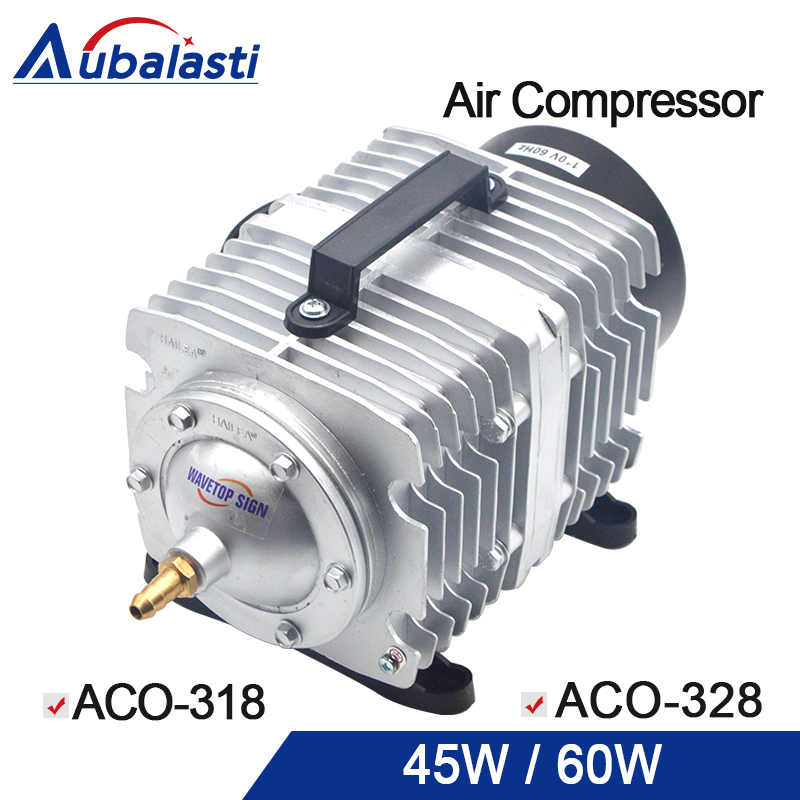 HAILEA 30W 60W Air Compressor Electrical Magnetic Air Pump for CO2 Laser Engraving Cutting Machine ACO-318 30W ACO-328 60W