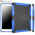 #AE 1PC Hybrid Armor Rugged Hard Case Cover Stand Skin For iPad Air 2 iPad 6 caso difficile copertura in pelle hybrid-schwerer