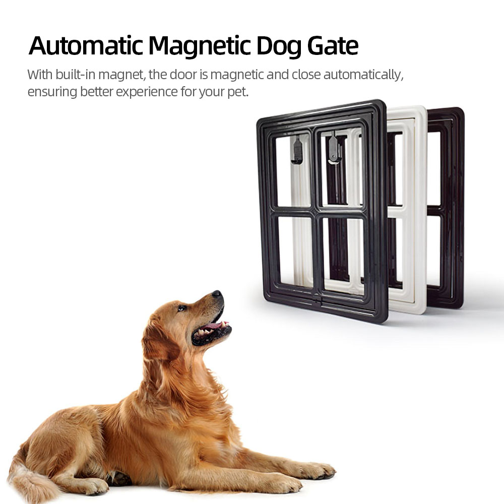 Дверь для собаки, кошки, котенка, питомца, экранная дверь для питомца, Автоматические магнитные ворота для собаки, безопасность для кошки, откидная дверь, товары для питомцев, размер M/L