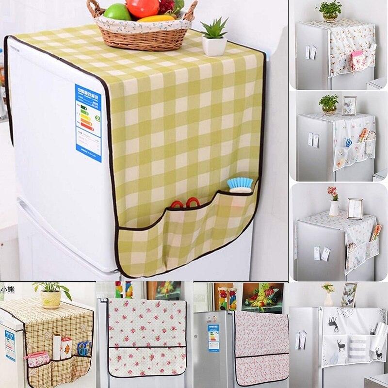 Urijk Refrigerator Dust Proof Cover Washing Machine Cover Sale Pastoral Fridge Nonwoven Multi-use Pouch Storage Organizer Bag