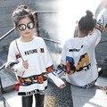 Свободные трикотажные свитера девушки зима осень-весна 2017 новый белый характер вязание подростка, девочки свитера и пуловеры