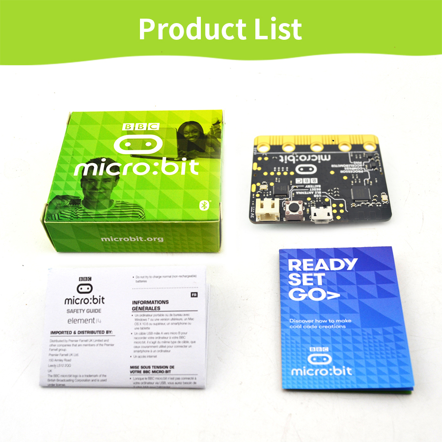 Bbc Micro:bit Nrf51822 Development Board Micro-controller With Motion Detection Compass Led Display And Bluetooth High Quality Active Components Integrated Circuits