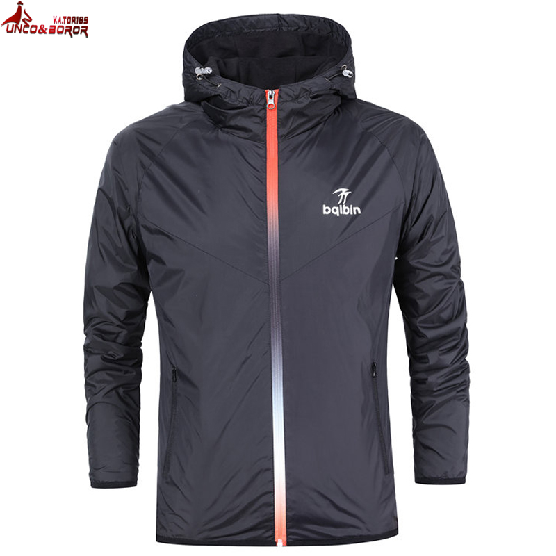 e5fab2abd2c0 UNCO BOROR Mens Fashion Spring Summer Outerwear Windbreaker Men  S Thin  Jackets Hooded Casual Sporting Zipper