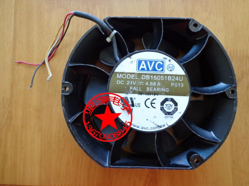 AVC DB15051B24U P013 DC 24V 4.68A 150x150x170mm Server Round Fan avc data1551b4l 17250 24v line server electronic enclosures fan