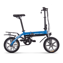 Richbit 250W 36V 10.2Ah City Portable Folding Electric Bicycle Frame Inner Removable Battery Relased 14 Inch Mini Folding eBike