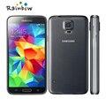 Оригинальный Samsung Galaxy S5 i9600 SM-G900 сотовый телефон quad-диапазона двух-жильный 3 г GPS WIFI 5.1 '' экран разблокирована восстановленное телефон