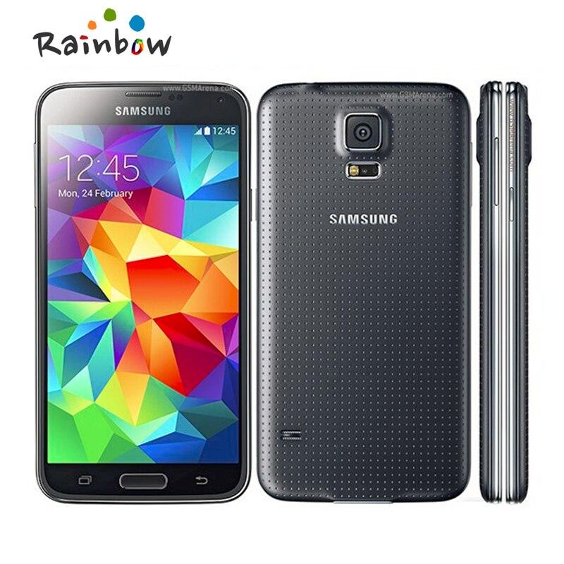 D'origine Samsung Galaxy S5 G900H i9600 SM-G900 Téléphone portable Quad-core 3G GPS WIFI 5.1 ''Écran Tactile débloqué Téléphone Remis À Neuf