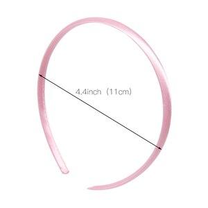 Image 2 - 100 ชิ้น/ล็อต Solid ซาตินสำหรับเด็กหญิง 10 mm ความกว้าง Candy สี Hairband อุปกรณ์เสริมผม Hoop