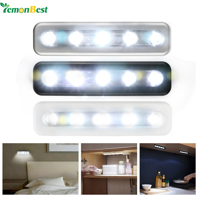 Lighting For Closets: LemonBest Mini Wireless Wall Light Closet Lamp 5 LED Night