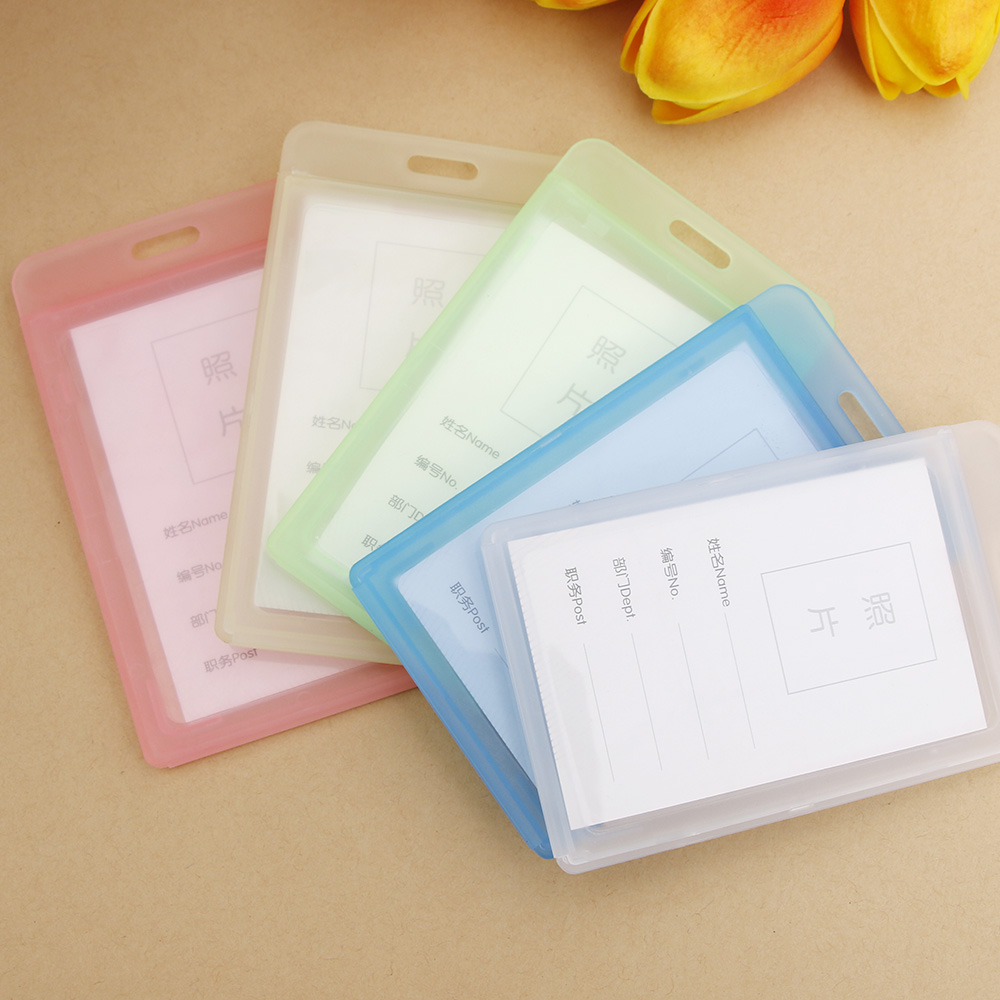 Acrylic Transparent Bank Credit Card Holders High Quality Badge Holder Crystal Card Bus ID Holders Plastic Without Lanyard
