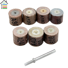 7PC 80-600 Grit Sander Sanding Flap Wheel Grinding Buffing Replacement Disc Emery Cloth Grinding Head For Dremel Parts Tools