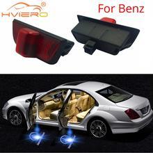 цена на Welcome Light for Benz C-class W203 CLK/SLK/level Dedicated W208 R171 Laser Led Projection Lamp Car Neon Car Door Lights DC 12V