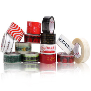 Image 2 - 10Pcs x 100meters Customized Logo Tape Roll Transparent Packaging Tape 45/50/60mm Width Red Blue Black Green Logo Clear Tape