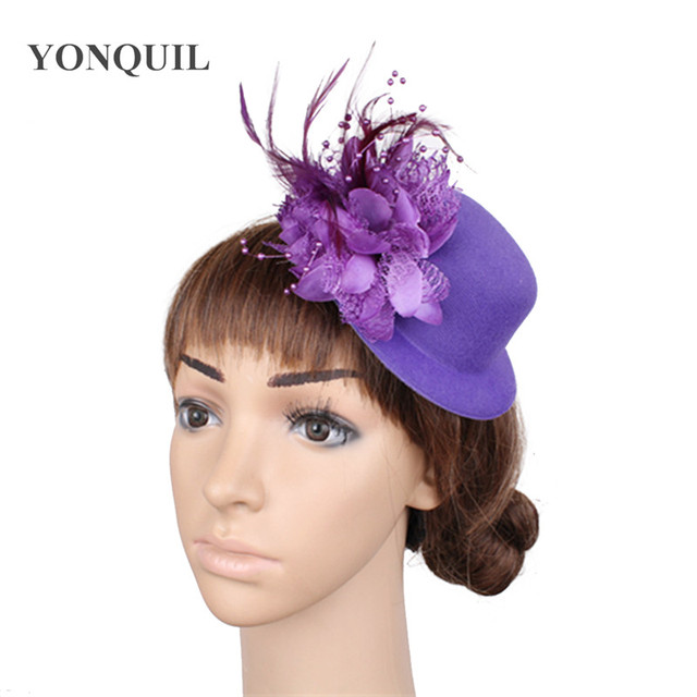 7534cbc09b8 fashion fascinator hats mini hats hair accessories cute kentucky derby hats  for sale 12pcs/lot