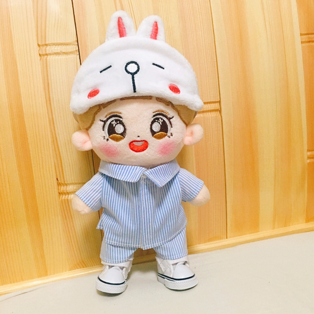 Kpop BTS BANGTAN BOYS JUNG EXO Clothes Fan Plush Toy Cosplay Dolls Clothes Girlfriend Gift Accessories Not include doll jung hae in fan meeting seoul