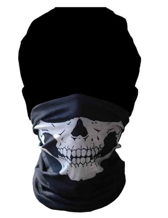 ماسك الجمجمة أنبوبي واقية الغبار الفم قناع باندانا دراجة نارية كوفية من البوليستر الوجه الرقبة أدفأ خوذة نصف Dot