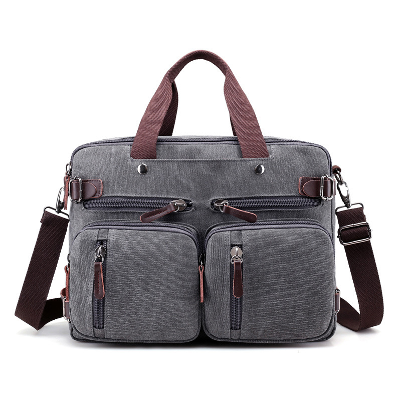 Uomini Qualità Canvas Business spalla Crossbody Borse Uomo Messenger Bags Borsa Tote Bag Multifunzione Back Pack Laptop Briefcase