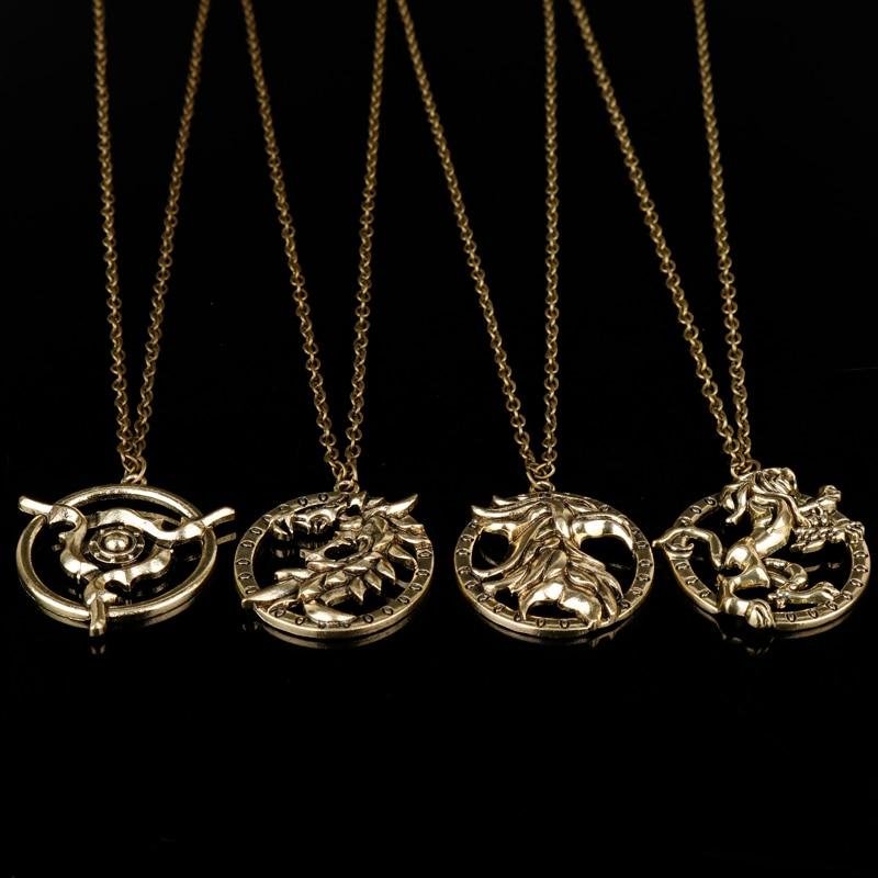Игры Elder Scrolls V Skyrim Дракон Цепочки и ожерелья Винтаж Jewelry Для мужчин динозавров Bijouterie Рождественский подарок чокер цепи Интимные аксессуары
