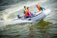 CANDO Inflatable Boat 4 To 6 People Assault Boat Hard Bottom High Speed Boat Free Shipping