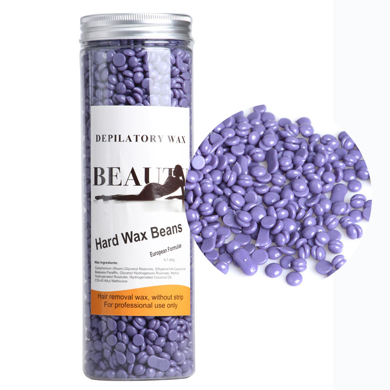 400G Lavender Taste Purple Depilatory Hot Film Hard Wax Beans Pellet Waxing Bikini Hair Removal Wax Body Hair Paperless Wax Bean 300g hard wax beans pellet waxing bikini hair removal wax beeswax lavender banana rose tea strawberry chamomile