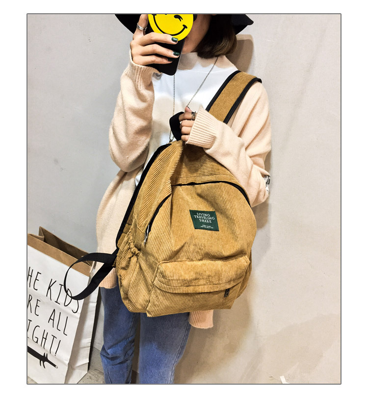 HTB1rJWkKgmTBuNjy1Xbq6yMrVXae Women Striped Corduroy Backpack Female Eco Simple Cloth Bag Large Capacity Vintage Travel Bags School Backpack for Teenage Girls
