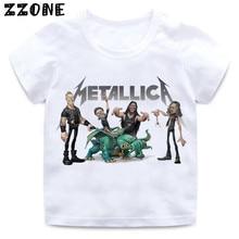 Boys & Girls Print Heavy Metal Rock Metallica T-shirt