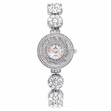 BELBI Brand Watch Quartz Ladies Gold Silver Mode Armbandsur Diamond Rostfritt Stål Kvinnor Armbandsur Girls Female Clock