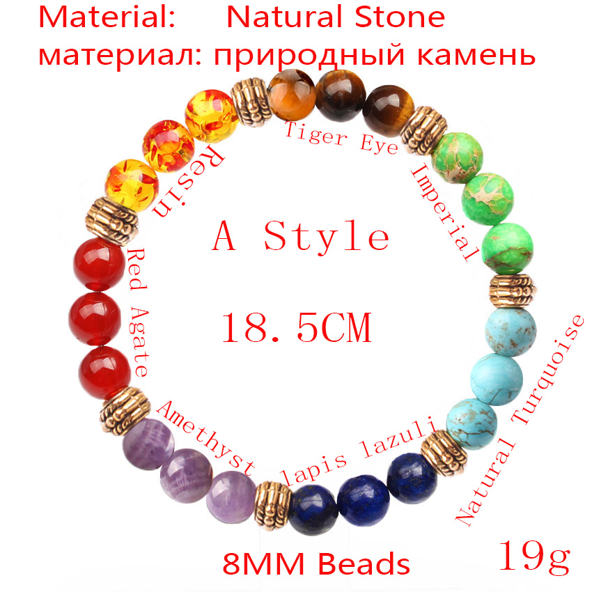 CAMDOE DANLE 7 Chakra Stone Bracelet Natural Beads Healing Reiki Prayer Buddha Beads Bracelet Men Charms Yoga Bracelet For Women 1