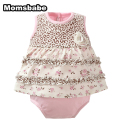 100%Cotton Baby Girl Bodysuits Newborn Baby girl clothes Short sleeve Infant Baby Clothing Toddler Jumpsuit