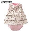100% algodón bebé niña monos recién nacido baby girl clothing manga corta ropa infantil del bebé del niño del mono
