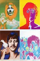Free Shipping Custom Poster Nice Bedroom Decor Fashion Wall Sticker Well Design The Beatles Paul John Lennon Wallpaper#0112#