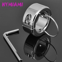 HYMIAMI Weights Testicle Balls Scrotum Pendant Stainless Steel Ball Stretchers Cock Ring Locking Real Men CBT Sex Produc