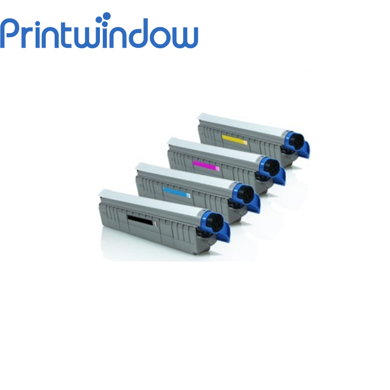 Printwindow Compatible Toner Cartridge for OKI MC860 4 pack high quality toner cartridge oki mc860 mc861 c860 c861 color printer full compatible 44059212 44059211 44059210 44059209