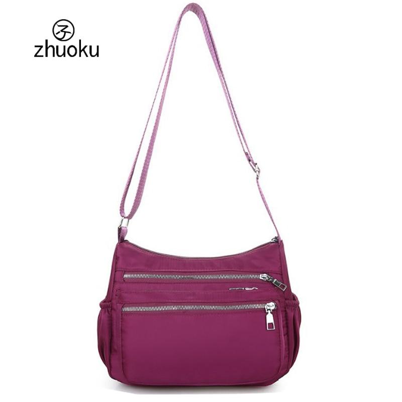 Detail Feedback Questions about shoulder crossbody bags for women Multi  layer zip pocket waterproof nylon dames tassen messenger bags schoudertas  dames Z467 ... 5c22b003a2646