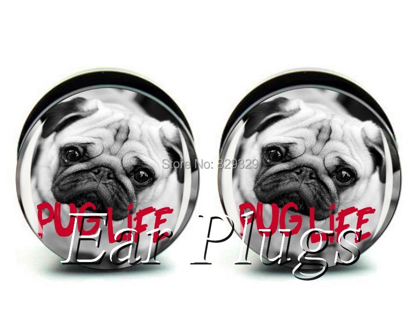 Wholesale 60pcs pug life plug acrylic screw fit ear plug flesh tunnel ear gauges mix sizes 6mm-25mm A0511